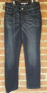 Wrangler Girl True Spirit Skinny Leg Size 10 R Adjustable Waist Blue Jeans NWT