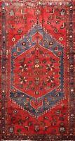 Tribal Semi Antique Geometric Hamedan Area Rug Traditional Wool Hand-Knotted 4x7