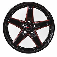 4 DRIFT 18 inch Black Red Mill Rims fits CHRYSLER TOWN AND COUNTRY 2000 - 2007