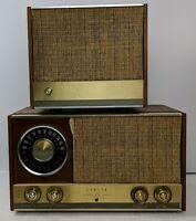 Zenith MJ1035 AM / FM Tube Radio + Speaker Matching ~ WORKS Vintage!!!