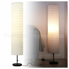 IKEA HOLMÖ (Holmo) Floor Lamp with Rice-Paper Shade (116cm)