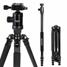 Z668 Professional Travel Ball Head Tripod Monopod for Canon Nikon Sony Camera