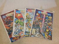 DC VERSUS MARVEL#1-4 NM LOT 1996 THANOS VS DARKSIED DC/MARVEL COMICS