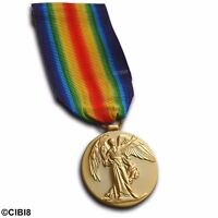 VICTORY MEDAL WW1 BRITISH & IMPERIAL FORCES CAMPAIGN 1914-1919 REPRO EMPIRE