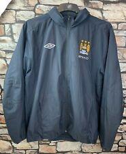 Manchester City MCFC Umbro Dark Blue Windproof Hooded Jacket Size Adult Large