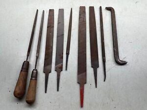 Metal File Tool Lot Half Moon Rounded Flat NICHOLSON BLACK DIAMOND+ Woodwork