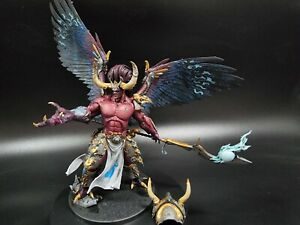 Pro painted Primarch Magnus the red chaos Daemon, thousand sons ready to ship