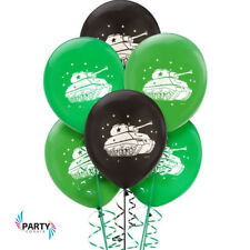 Camouflage Army Party Supplies LATEX BALLOONS Pack Of 6