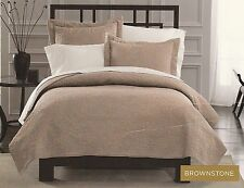 Springmaid Luxury Brownstone Soft As Silk Coverlet Set - Queen Oversized