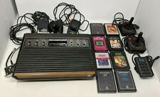 VINTAGE ATARI 2600 BUNDLE 'WOODEN' CONSOLE, GAMES, JOYSTICKS, PADDLES COLLECTION