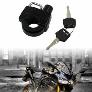 Motorrad Helm Schloss Universal Helmschloss Lenker Helmhalterung Schlüssel 25mm