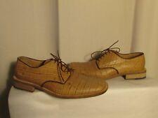 chaussures Charles JOURDAN cuir camel façon reptile  pointure 9 E