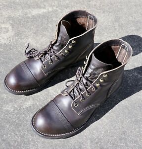 Red Wing 4606 Iron Ranger Size 10D in Ebony Harness