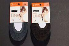 4 pair No nonsense No Show Socks Black Animal prin Foot Liner Foot Cover no show