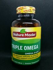 Nature Made Triple Omega Dietary Supplement Value Size 150 Softgels Exp 6/22