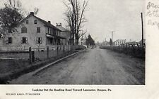 Looking Out The Reading Road Towards Lancaster in Oregon PA Pre 1908