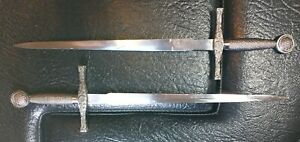 Small Excalibur Decorative Broadswords (lot of 2) Dragon Design SS China 12 in