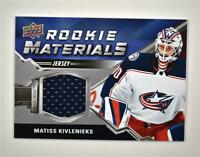 2020-21 UD Series 2 Rookie Materials Relic #RM-KI Matiss Kivlenieks RC
