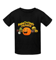 Annoying Orange O-neck Cotton Fashion T Shirt For Kids