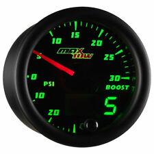 MaxTow Black & Green LED Double Vision Electronic Boost / Vacuum Gauge - MT-DV01