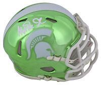Michigan State Magic Johnson Signed Chrome Speed Mini Helmet BAS Witnessed