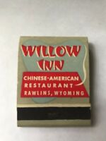 Willow Inn Chinese Restaurant Rawlings Wyoming Vintage Matchbook Travel Souvenir