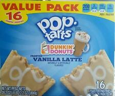 Dunkin Donuts Frosted Vanilla Latte Pop Tarts 16 Limited Edition Kelloggs Coffee