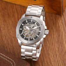 Fossil Machine Automatic Silver Tone Mens Skeleton Dial Wrist Watch ME3081 50mm