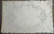 4 MADEIRA EMBROIDERED LINEN PLACEMATS W/ 3 NAPKINS NWT TT769