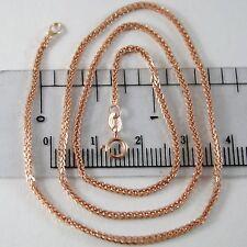 CHAIN CHOKER ROSE GOLD 750 18K, LONG 40 CM, JERSEY SPIKE, DIAMETER 1.5 MM