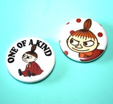 SET OF 2 LITTLE MY FROM THE MOOMINS BUTTON PIN BADGES