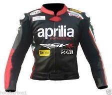 New Handmade Aprilia Racing MotoGP Style Leather Motorcycle Jackets