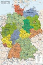 GERMANY MAP ~ 24x36 GEOGRAPHY POSTER Europe Deutschland World Earth NEW/ROLLED!