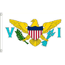 Us Virgin Islands Flag 5Ft X 3Ft Caribbean Island Country Banner With 2 Eyelets