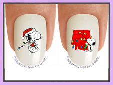 Nail Art X822 CHRISTMAS Snoopy 8 Holiday Lights WaterSlide Nail Decals Transfers