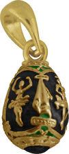 Faberge Egg Pendant / Charm with Ballerina 1.5 cm black #0963