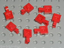 LEGO red Plate 1 x 1 with Clip ref 6019 / Set 5571 8038 6256 4982 ...