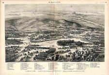 Bataille de Gravelotte Saint-Privat Division de Soldats Armée Metz GRAVURE 1873