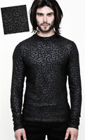 Gothic Victorian Tail Shirt Jacquard Baroque Lace Ruffle vampire PunkRave Men