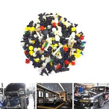 200pc Car Plastic Rivet Bumper Fender Retainer Fastener Mud Flaps Push Clips Pin