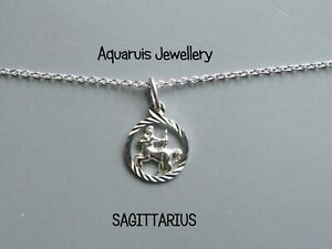 ZODIAC SIGNS STERLING SILVER PENDANT WITH 18* CHAIN  FREE GIFT BOX