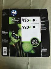 HP #920XL Black Ink Cartridge x3 GENUINE NEW