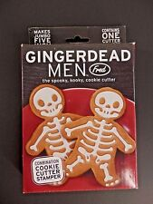 "Jumbo 5"" Cookie Cutter Gingerdead Men Fred Gingerbread Stamper Novelty Baking"