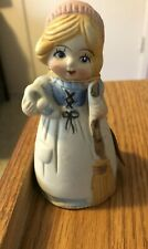 Vintage 1978 Jasco Porcelain Bisque Bell & tag Merri Bells Cinderella Figurine