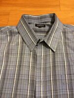 Croft & Barrow Men's Long Sleeve Blue Plaid Dress Shirt XL