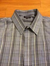Croft & Barrow Men's Long Sleeve Blue Plaid Dress Shirt XL