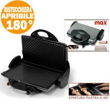 Bistecchiera Elettrica Piastra Grill Piastre Antiaderenti Removibili 1800W MAX