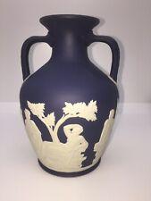 Wedgwood Deep Blue Jasperware Portland Vase