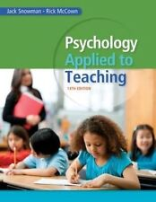 Psychology Applied to Teaching by Rick R. McCown, Jack Snowman (Paperback, 2014)