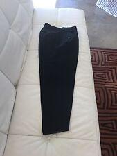 Yohji Yamamoto Men's Black Wool Suspender Trousers,size M
